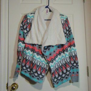 Tribal Sherpa Teddy Bear Super Soft Cardigan